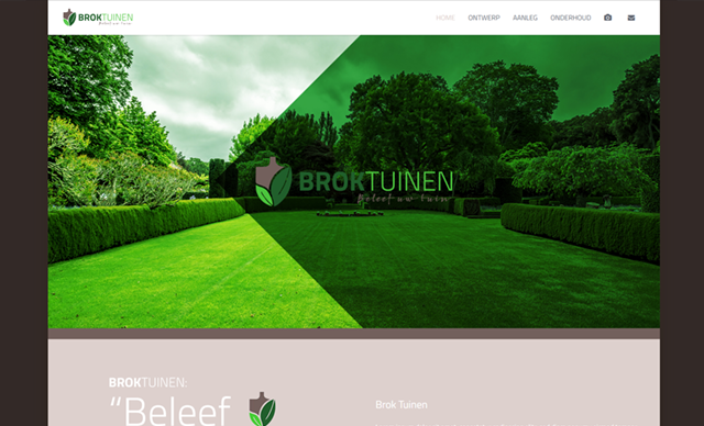 Website Brok Tuinen online