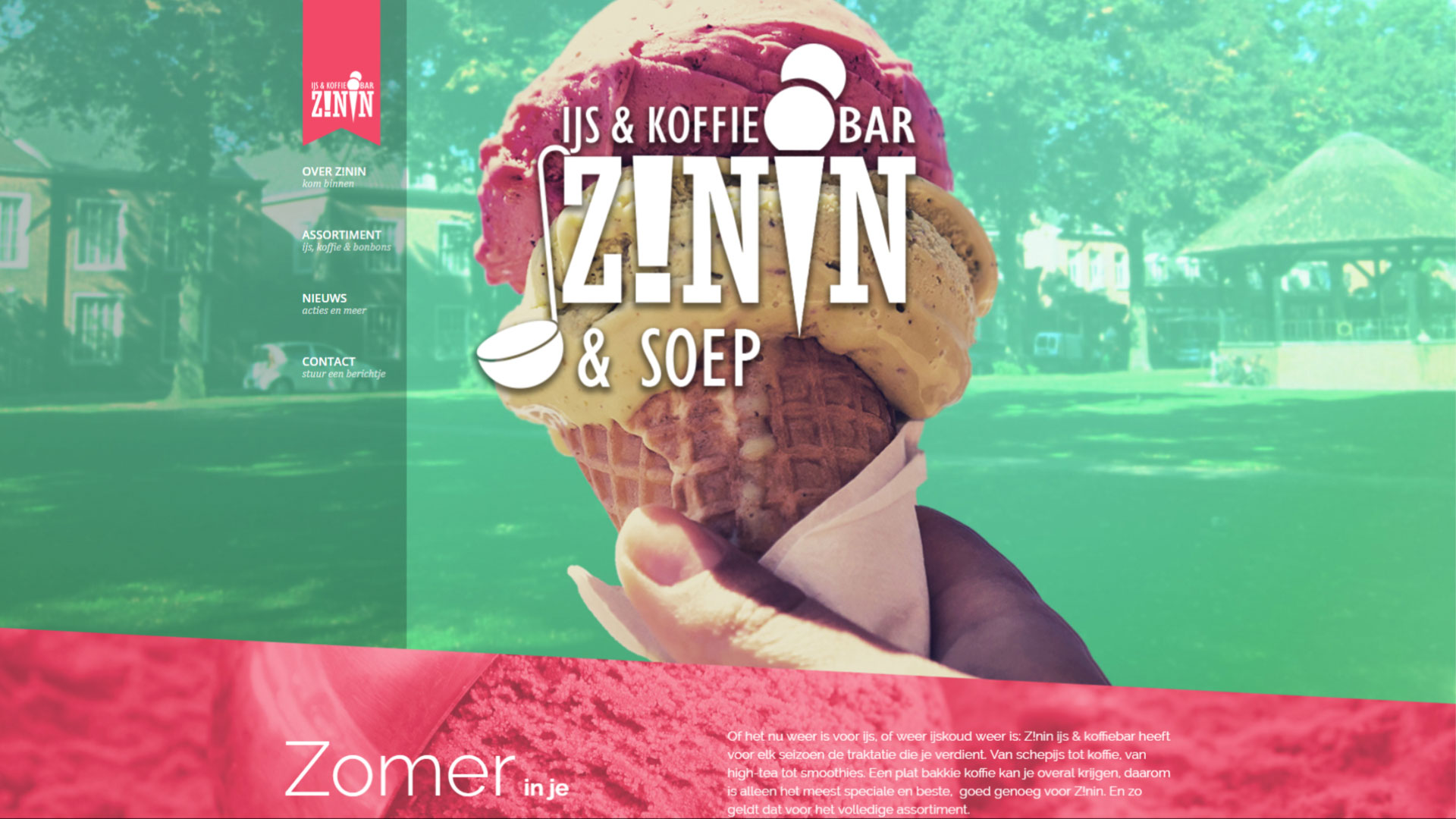 Website - Zinin IJs & Koffiebar